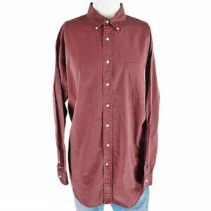 Daniel Cremieux Collection Red Shirt Plaid Men's XL Fine Italian Fabric LS