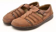 Birkenstock Footprints Womens Shoes Size 10 Brown Leather Sandals EU 40 Cork