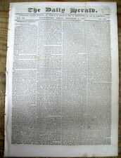 1838 newspaper PRESIDENT SPEECH outlining INDIAN REMOVAL POLICY of US GOVERNMENT