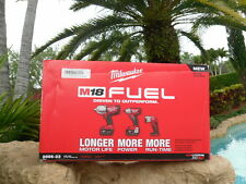 Milwaukee 2896-23 M18 FUEL™ Gen 2 Cordless Lithium-Ion 3 Tool 5 Amp Batt Kit
