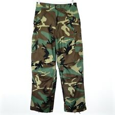 VINTAGE US ARMY FIELD TROUSERS PANTS COLD WEATHER CAMO ZIPPER SMALL LONG NOS