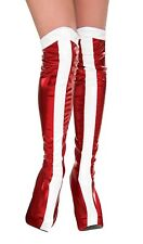 WONDER WOMAN Diana Prince Superhero BOOT TOPS Shoe Cover Adult Costume Red White