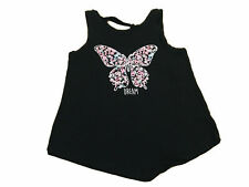 Justice Size 12 Butterfly Dream Black Top short sleeve summer wear