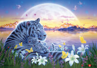 Jigsaw puzzle Mysterious island the white tiger family 38 * 52 cm 500 pieces TP0
