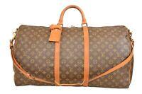 Louis Vuitton Monogram Keepall 60 Bandouliere Travel Bag Strap M41412 - YG00758