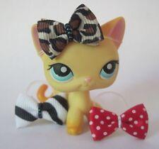 Littlest Pet Shop LPS clothes accessories 3 Pc BOWS Lot Set CAT NOT INCLUDED