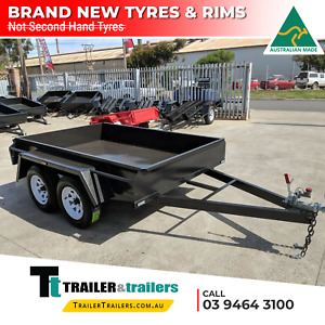 8x5 STANDARD TANDEM BOX TRAILER   FIXED FRONT   BRAND NEW TYRES   SMOOTH FLOOR