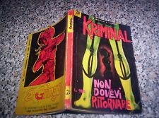 KRIMINAL N.28 ORIGINALE del 1965 CORNO TIPO SATANIK-FORD-DIABOLIK-MAGNUS-GENIUS