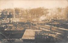 RPPC BANGOR MAINE IN RUINS FIRE DISASTER GENERAL VIEW REAL PHOTO POSTCARD (1911)