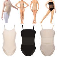 Kids Girls Leotard Ballet Dance Dress Gymnastics Dancewear Mesh Camisole Costume