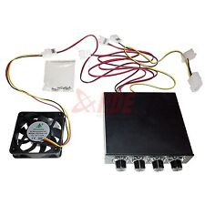 "3.5"" 4 Channel Fan Speed Controller + 60mm Case Fan Computer PC Cooling 12v"