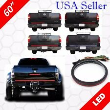 "60"" LED Tailgate Light Bar Line Of Fire Signal Reverse Brake Truck SUV"
