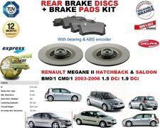 für Renault Megane II Fließheck Limousine Bremsscheiben SET HINTEN +