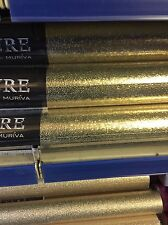 MURIVA Ultra Weight Metallic Foil Vinyl Amelia Texture Gold 701433