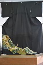 Vintage Japanese kimono tomesode   from Japan 9-26