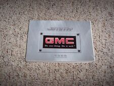 2000 GMC Jimmy Owner Owner's Manual User Guide SLS SLE SLT JDE 4WD 4.3L V6