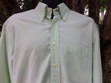 Tommy Hilfiger Mens Shirt Button Down Collar Dotted Light Green Size L 16/34-35
