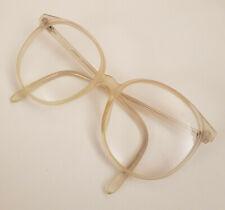 Vintage Anglo American Eyeglass Frames Mod 132 54x20 Clear Grayish Color Big