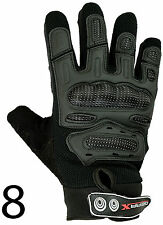 MX Motocross Motorbike Cycle Gloves Carbon Knuckle Protection M