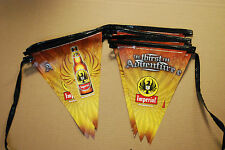 Imperial Beer Pennant Flag String - 17 ft each - 6 set pack over 100 ft  New F/S