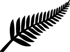 New Zealand Silver Fern Vinyl Sticker Decal Kiwi - Choose Size & Color