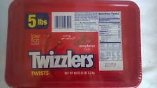 5 Pound Tub of Twizzlers Strawberry Licorice Candy - Brand New & Sealed