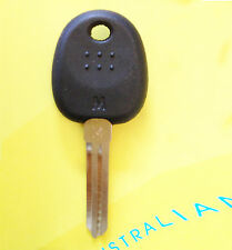 Hyundai transponder key with ID46 chip inside uncut key blank