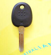 Hyundai transponder key with ID46 chip inside uncut key blank
