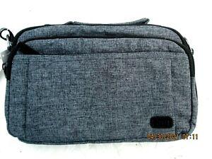 LUG Scoop HR Gray RFID Crossbody Shoulder Handbag NWT