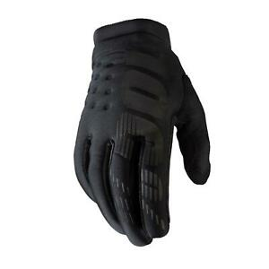100% Brisker Cold Weather MTB Cycling Gloves Black
