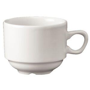 CHURCHILL SUPER VITRIFIED  WHITE HOLLOWARE  NOVA TEA CUP (24 BOX) WH CN 1