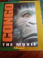 RARE PANINI CONGO THE MOVIE 1995 WITH POSTER  STICKER ALBUM BOOK EMPTY UNUSED