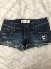 NWOT Gilly Hicks Denim Shorts with embroidered logo SIZE 2