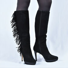 New LODI  Damen Stiefel Stiefeletten Boots Schwarz Leder 37 38 39 40 Schuhe