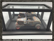 Beautifully Crafted Handmade LIGHTED Mirrored Display Case For 1:18 Models