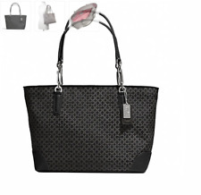 NWT COACH F33372 MADISON OP ART NEEDLEPOINT EAST/WEST TOTE