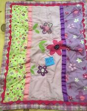 Girls Pink Purple Flowers Pillow Sham
