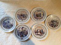 VTG 6 Revolutionary War Le Patrimoine de Lafayette Collector Plates by Limoges