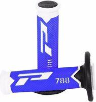 Pro Grip Flo Blue 788 handlebar Motocross MX grips YAMAHA YZ125 YZ250 2000 2001