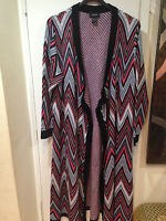 Women's winter fall long blanket Sweater coat jacket Cardigan tag XL but fits 2X