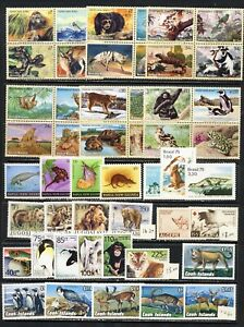 Fauna mnh vf sets, sheets, blocks, endangered species to 48-  on 2 pages