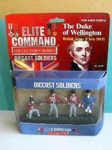 BLUE BOX TOYS. NAPOLEONIC WARS. DUKE of WELLINGTON & BRITISH INFANTRY SOLDIERS