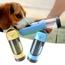 PORTABLE WATER BOTTLE FOR DOGS Bowl Travel Mug Pet Feeder Dispenser Filter Cat