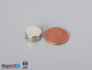 """8Pcs 12mm x 6mm 1/2""""dia x1/4"""" N52  Rare Earth Neodymium Disc Magnets"""