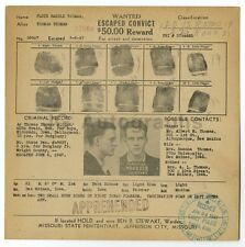 Wanted Mailer - Floyd Harold Thomas/Escaped Convict, Missouri Penitentiary, 1947