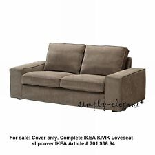 IKEA Kivik Loveseat 2 seat Sofa Cover Tranas Light Brown Corduroy Slipcover NOB