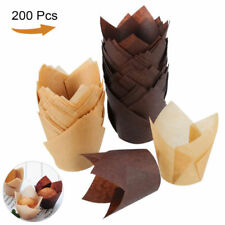 200PCS Tulip Baking Cups Paper Cupcake Liner Cases Muffin Wrappers Treat Cups