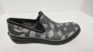Bogs Patch Waterproof Slip-On Shoes, Grey/Black, Women's 9 M