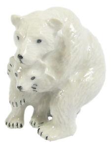 Miniature Porcelain Polar Bear & Cub (1 Piece) Approx 3cm High
