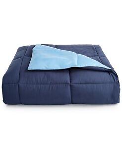 Martha Stewart TWIN/TWIN XL Comforter Down Alternative Reversible BLUE A0X037